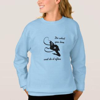 Sweatshirt de gymnastique rythmique