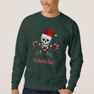 Sweatshirt de jolly roger de Noël de pirate
