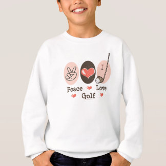 Sweatshirt de la jeunesse de golf d'amour de paix