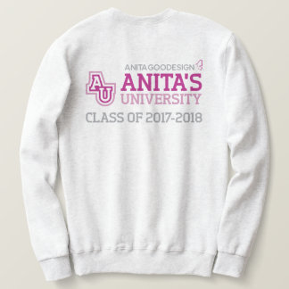 Sweatshirt de logo de l'université d'Anita