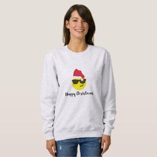 Sweatshirt de Noël heureux d'Emoji