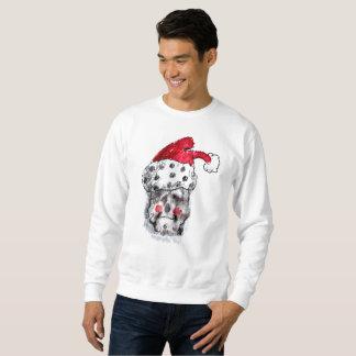 Sweatshirt de Père Noël - crâne du père noël