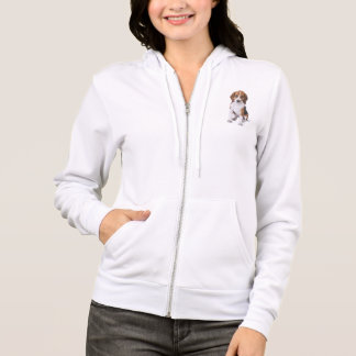 Sweatshirt de tirette de dames de chiot de beagle