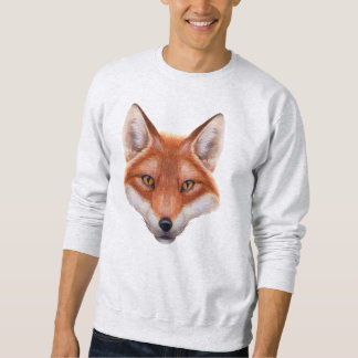 Sweatshirt de visage de Fox rouge