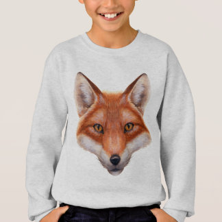 Sweatshirt de visage de Fox rouge