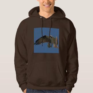 Sweatshirt de vol de faune de poissons d'oiseau de