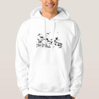 Sweatshirt de vol de faune d'oiseaux d'oies de