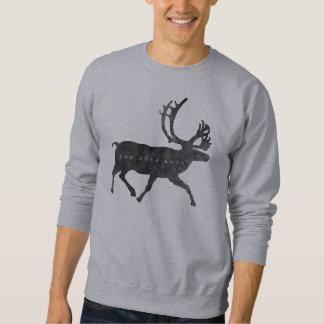 Sweatshirt d'encolure ras du cou d'orignaux de