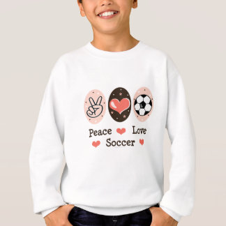 Sweatshirt d'enfant du football d'amour de paix