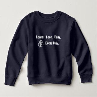 Sweatshirt d'enfant en bas âge : Apprenez que