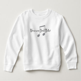 Sweatshirt d'enfant en bas âge de duo (notes)