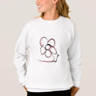 Sweatshirt dessin mignon petite fleur