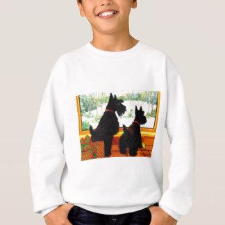 Sweatshirt Deux chiens de Scottie attendant le père noël