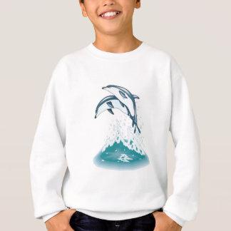 Sweatshirt deux dauphins sautants