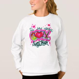 Sweatshirt d'hockey d'amour de paix