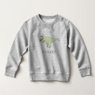 Sweatshirt Dinosaure de T-Rex de griffonnage de garçon