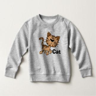 Sweatshirt d'ouatine de chat d'enfant en bas âge