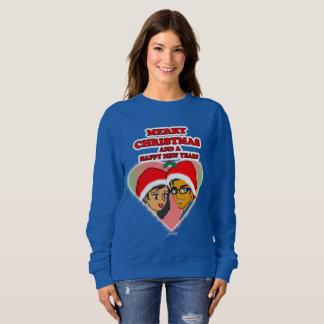 Sweatshirt doux de coeur de Noël de miel