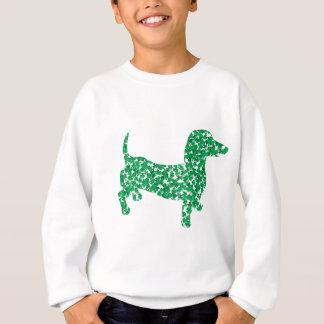 Sweatshirt Doxie dans les shamrocks