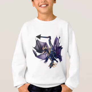 Sweatshirt dragon du bleu 2-Headed