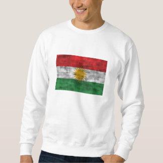 Sweatshirt Drapeau affligé du Kurdistan