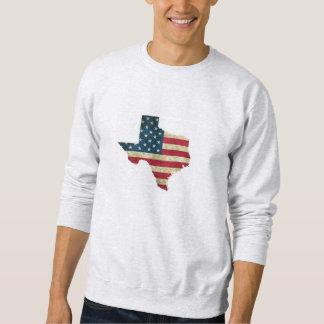 Sweatshirt Drapeau américain de carte du Texas