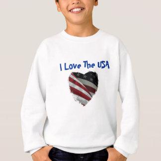 Sweatshirt Drapeau américain de coeur