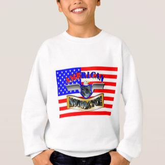 Sweatshirt Drapeau américain motorcycle
