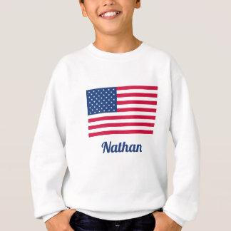 Sweatshirt Drapeau américain | personnalisé