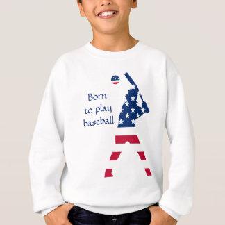 Sweatshirt Drapeau d'Américain de base-ball de l'Amérique