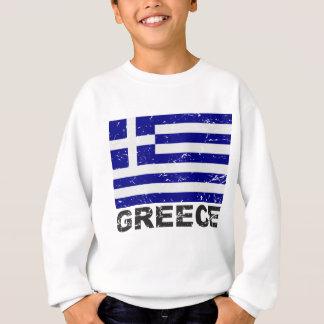 Sweatshirt Drapeau de cru de la Grèce