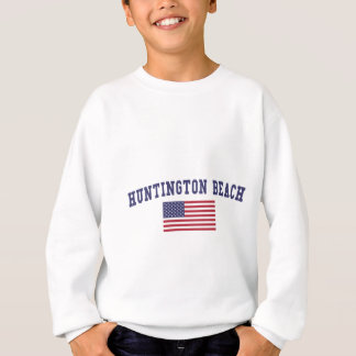 Sweatshirt Drapeau de Huntington Beach USA