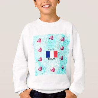 Sweatshirt Drapeau de la France et conception de langue