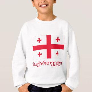 Sweatshirt Drapeau de la Géorgie avec le nom dans géorgien