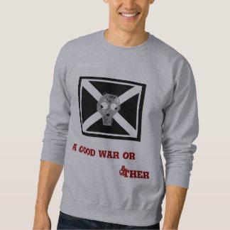 Sweatshirt drapeau de pirate gris de crâne