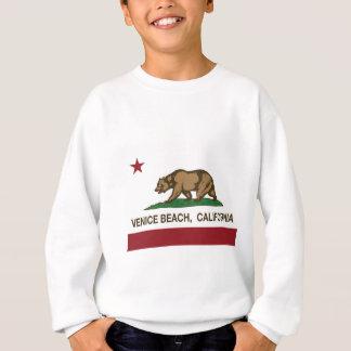 Sweatshirt drapeau d'état de la Californie de plage de Venise