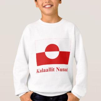 Sweatshirt Drapeau du Groenland avec le nom dans Kalaallisut