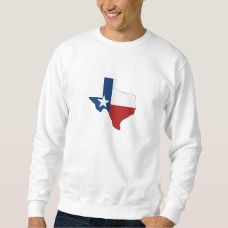 Sweatshirt Drapeau et carte d'état du Texas
