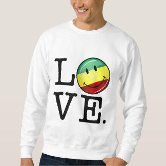 Sweatshirt Drapeau heureux de Rasta d'amour de Rastafarian