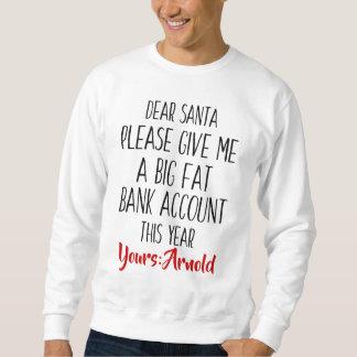 Sweatshirt drôle de Père Noël de vacances de Noël