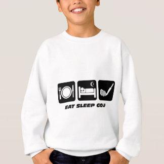 Sweatshirt Drôle mangez le golf de sommeil