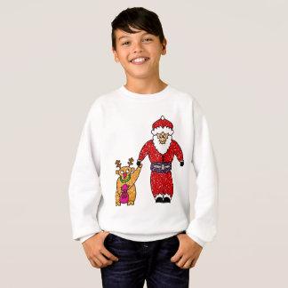 Sweatshirt du père noël de renne de Noël