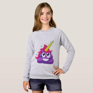 Sweatshirt Dunette pourpre d'Emoji de licorne