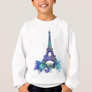 Sweatshirt Éclaboussure de couleur d'Eiffel de visite de La