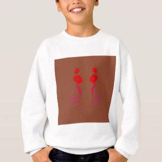 Sweatshirt Éléments de conception rouges sur le brun