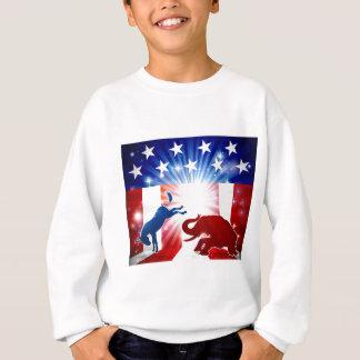 Sweatshirt Éléphant de combat d'âne de silhouette