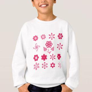 Sweatshirt ensemble de fleur