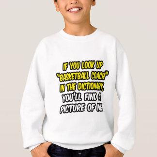 Sweatshirt Entraîneur de football en dictionnaire… mon image