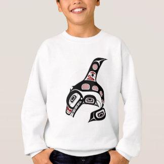 Sweatshirt Épaulard du nord-ouest d'art de Haida de Côte