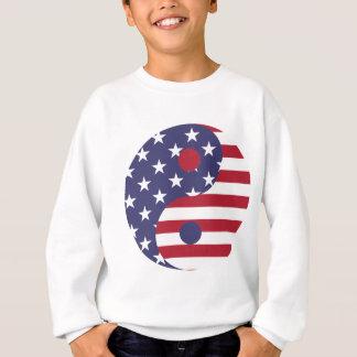 Sweatshirt Équilibre d'Asiatique d'art abstrait de drapeau de